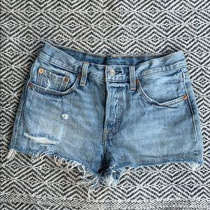 a797baff Vintage Style Levi's 501 Jean Denim Cut Off Shorts